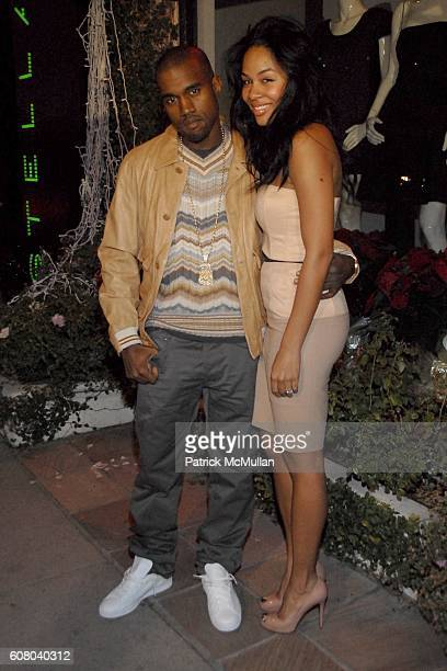 Kanye West and Alexis Phifer attend Stella McCartney's Store Christmas Lighting Hosted By Kanye West at Beverly Hills on December 5 2006