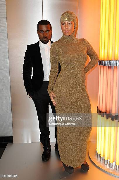 Kanye West and Amber Rose arrive at the Chanel HauteCouture show as part of the Paris Fashion Week Spring/Summer 2010 at Pavillon Cambon Capucines on...