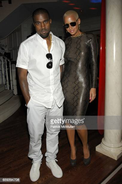 Kanye West and Amber Rose attend Lee Daniels Film PRECIOUS after Screening Dinner Hosted by Marcia and Richard Mishaan at Marcia and Richard Mishaan...