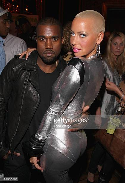 Kanye West and Amber Rose attend SwaggMedia's Persona Magazine Launch with Amber Rose hosted by Russell Simmons at The Griffin on September 11 2009...