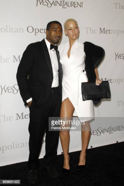 Kanye West and Amber Rose attend YVES SAINT LAURENT Sponsors the 125th Anniversary of THE METROPOLITAN OPERA HOUSE Arrivals at The Met on March 15...