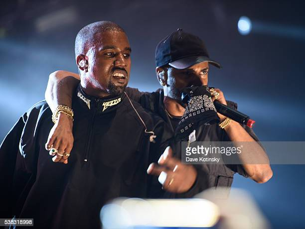 Kanye West and Big Sean perform at the 2016 Hot 97 Summer Jam at MetLife Stadium on June 5 2016 in East Rutherford New Jersey
