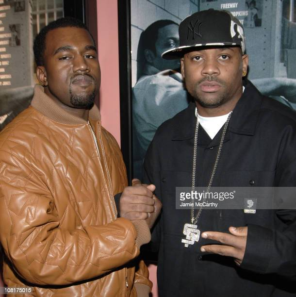 Kanye West and Damon Dash during State Property 2 New York City Premiere Arrivals at Clearview's Chelsea 9 Theater in New York City New York United...