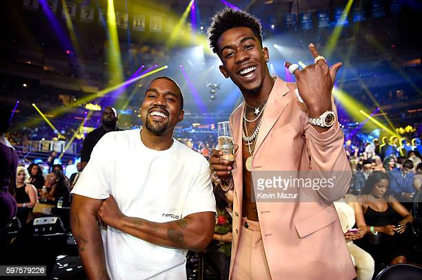 Kanye West and Desiigner attend the 2016 MTV Video Music Awards at Madison Square Garden on August 28 2016 in New York City