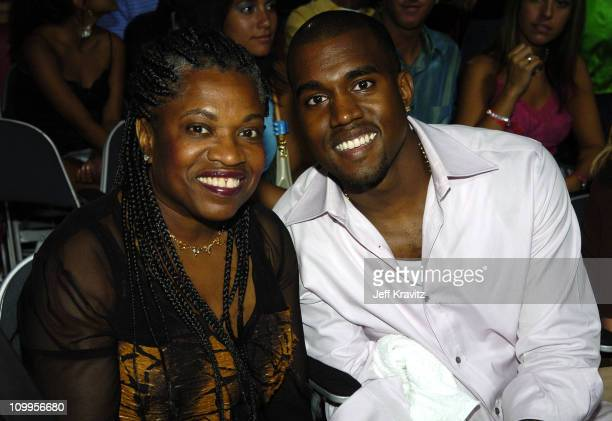 Kanye West and Mom during 2004 MTV Video Music Awards Backstage and Audience at American Airlines Arena in Miami Florida United States