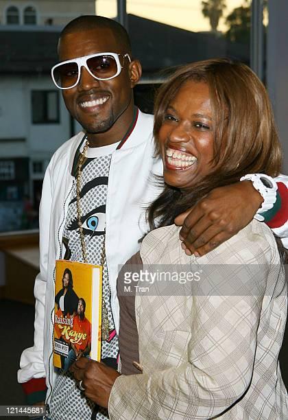 Kanye West and Donda West during Kanye West and Donda West Raising Kanye Book Signing May 9 2007 at Borders Books in Westwood California United States