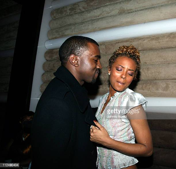 Kanye West and Eva Pigford during Kanye West and Groovevoltcom Present a Private Screening of BET's Rip the Runway at Cielo in New York City New York...