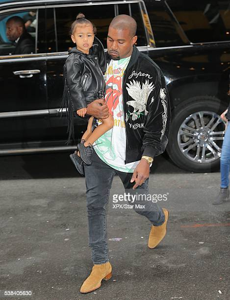 Kanye West and his daughter North West are seen on June 5 2016 in New York City