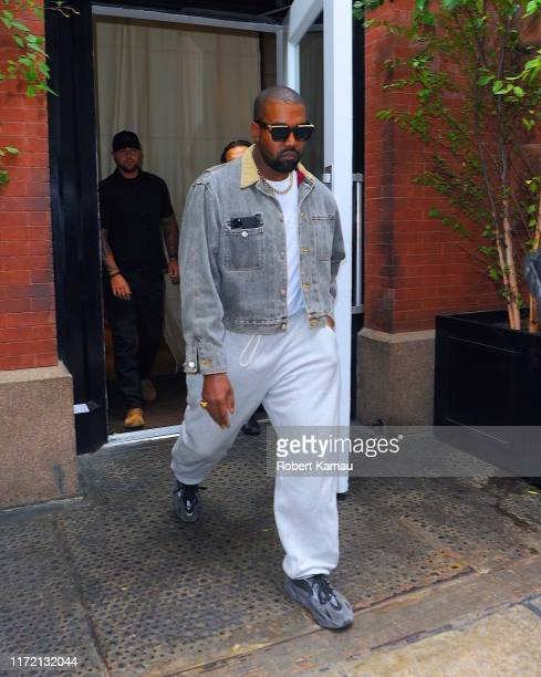 Kanye West and his Family seen leaving Hotel to attend a Sunday church service in Queens at The Greater Allen AME Cathedral of New York on September...