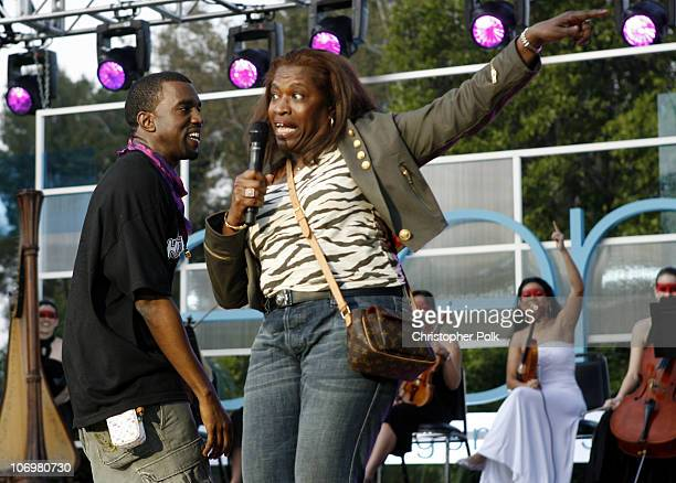 Kanye West and his mom during The Ellen DeGeneres Show Films the Second Annual Ellen in the Park with Kanye West at Johnny Carson Park in Burbank...