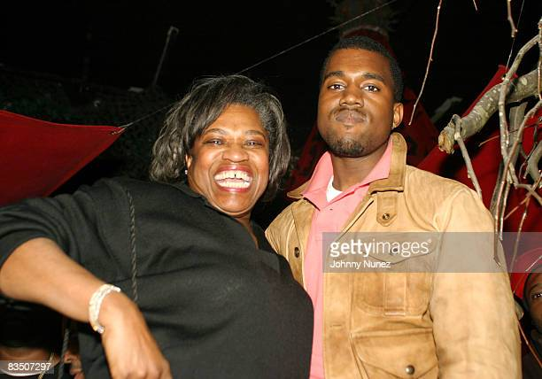 Kanye West and his mother