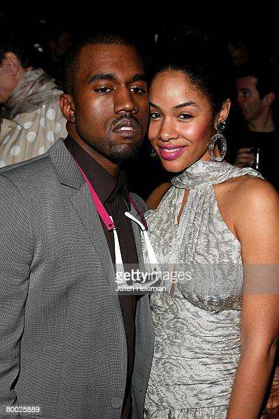 Kanye West and his wife attend the Cavalli Party In Paris during the Fall/Winter 20082009 readytowear collection show in Crazy Horse Saloon February...