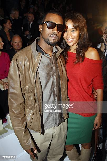 Kanye West and his wife attends the Stella McCartney fashion show during the Spring/Summer 2008 readytowear collection show at Palais de Chaillot on...