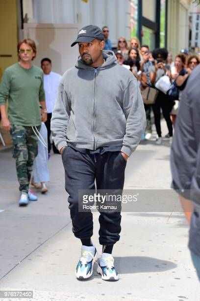 Kanye West and Jonathan Cheban seen out and about in Manhattan on June 15 2018 in New York City