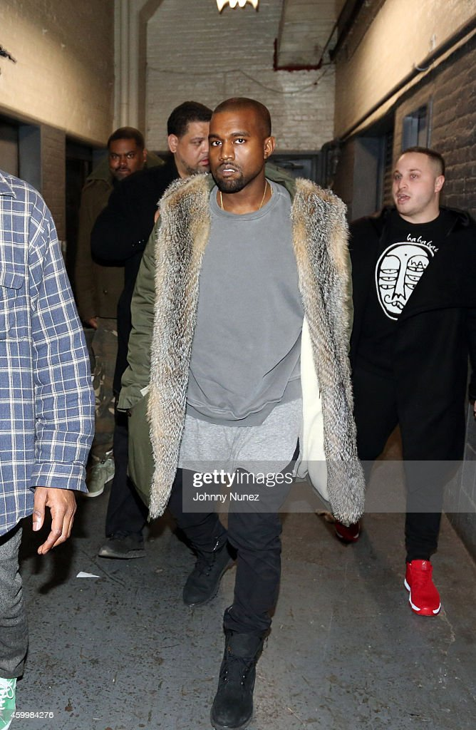 Kanye West and Jordan Gold attend SOB's on December 4, 2014, in New York City.