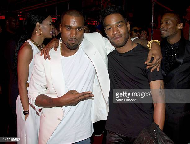 Kanye West and Kid Cudi attend The Cruel Summer Presentation by Kanye West during the 65th Annual Cannes Film Festival at Casino Palm Beach on May 23...