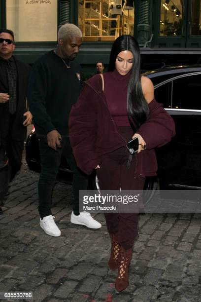 Kanye West and Kim Kardashian are seen on February 15 2017 in New York City