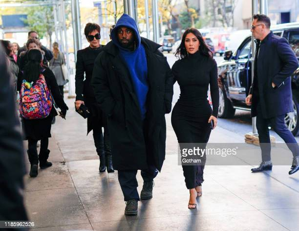 Kanye West and Kim Kardashian are seen on November 06, 2019 in New York City.