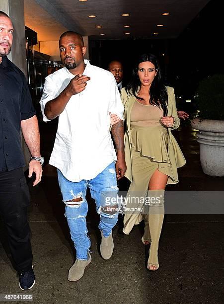 Kanye West and Kim Kardashian arrive to Bergdorf Goodman on September 10, 2015 in New York City.