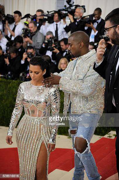 Kanye West and Kim Kardashian at Metropolitan Museum of Art on May 2 2016 in New York City