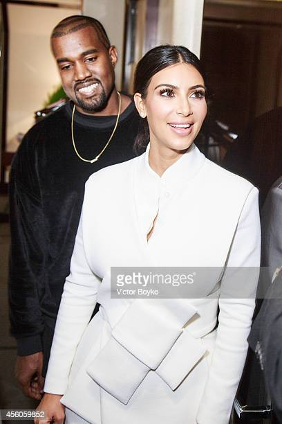 Kanye West and Kim Kardashian attend the Buro 24/7 Fashion Forward Initiative Presenting Natalia Alaverdian Founder and Creative Director of AWAKE at...