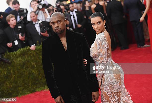 "Kanye West and Kim Kardashian attend the ""China: Through The Looking Glass"" Costume Institute Benefit Gala at the Metropolitan Museum of Art on May..."