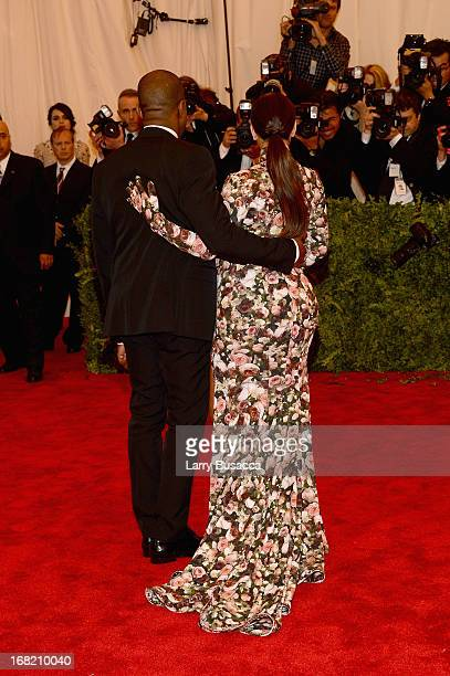 Kanye West and Kim Kardashian attend the Costume Institute Gala for the PUNK Chaos to Couture exhibition at the Metropolitan Museum of Art on May 6...