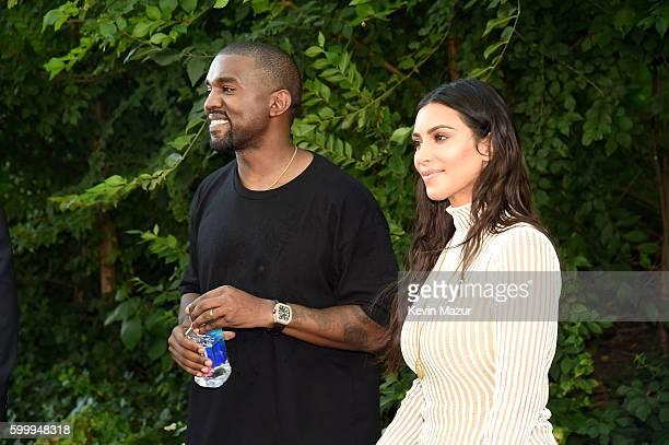 Kanye West and Kim Kardashian attend the Kanye West Yeezy Season 4 fashion show on September 7, 2016 in New York City.