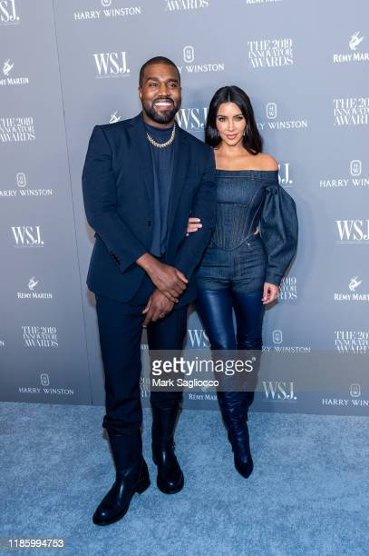 Kanye West and Kim Kardashian attend the WSJ Mag 2019 Innovator Awards at The Museum of Modern Art on November 06 2019 in New York City