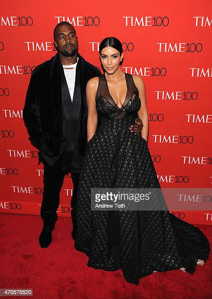 Kanye West and Kim Kardashian attends the 2015 Time 100 Gala at Frederick P. Rose Hall, Jazz at Lincoln Center on April 21, 2015 in New York City.