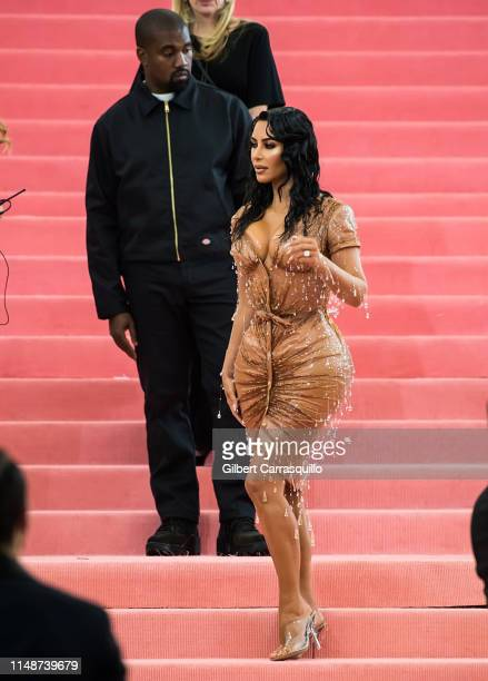 Kanye West and Kim Kardashian West are seen arriving to the 2019 Met Gala Celebrating Camp: Notes on Fashion at The Metropolitan Museum of Art on May...