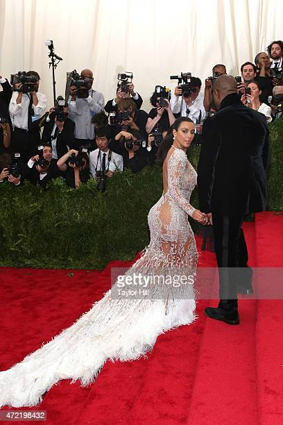 Kanye West and Kim Kardashian West attend 'China Through the Looking Glass' the 2015 Costume Institute Gala at Metropolitan Museum of Art on May 4...