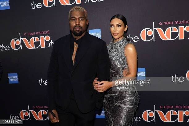 Kanye West and Kim Kardashian West attend opening night of 'The Cher Show' at Neil Simon Theatre on December 3 2018 in New York City