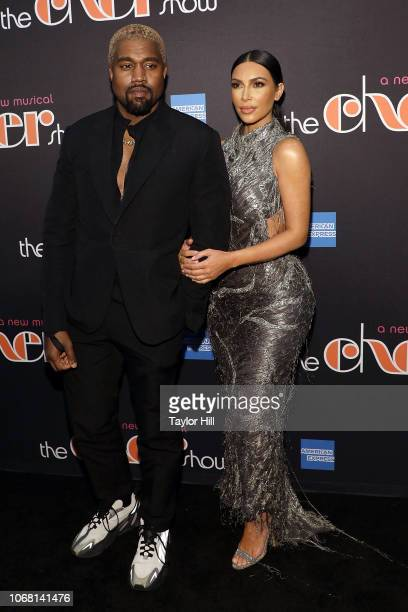 Kanye West and Kim Kardashian West attend opening night of The Cher Show at Neil Simon Theatre on December 3 2018 in New York City