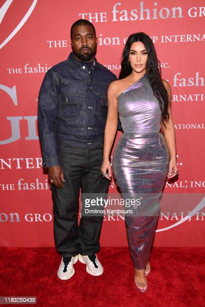 Kanye West and Kim Kardashian West attend the 2019 FGI Night Of Stars Gala at Cipriani Wall Street on October 24 2019 in New York City