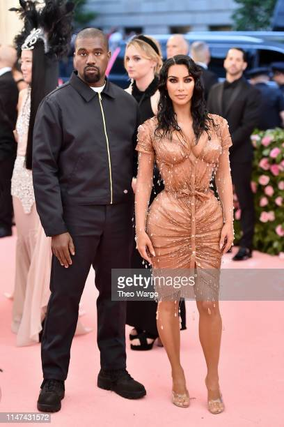 Kanye West and Kim Kardashian West attend The 2019 Met Gala Celebrating Camp: Notes on Fashion at Metropolitan Museum of Art on May 06, 2019 in New...