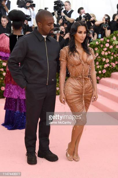 Kanye West and Kim Kardashian West attend The 2019 Met Gala Celebrating Camp Notes on Fashion at Metropolitan Museum of Art on May 06 2019 in New...