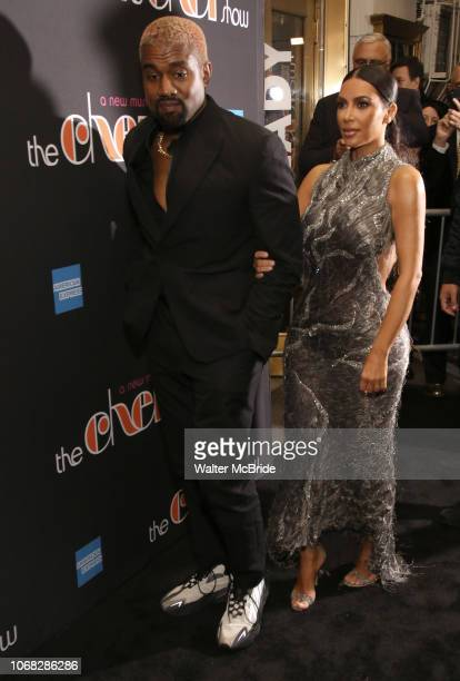 Kanye West and Kim Kardashian West attend the Broadway Opening Night Performance of 'The Cher Show' at the Neil Simon Theatre on December 3 2018 in...
