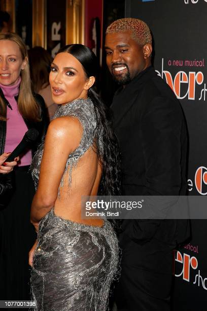 Kanye West and Kim Kardashian West attend the opening night of the new musical 'The Cher Show' on Broadway at Neil Simon Theatre on December 03 2018...