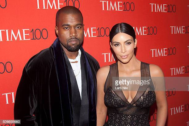 """Kanye West and Kim Kardashian West attend the """"TIME 100 Gala, TIME's 100 Most Influential People In The World"""" at Jazz at Lincoln Centerin New York..."""