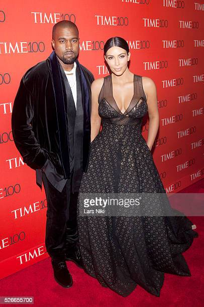 Kanye West and Kim Kardashian West attend the 'TIME 100 Gala TIME's 100 Most Influential People In The World' at Jazz at Lincoln Centerin New York...