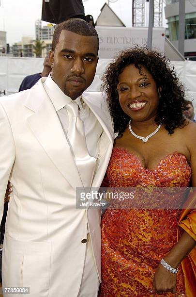 Kanye West and mother Donda West