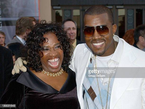 Kanye West and mother during 32nd Annual American Music Awards Arrivals at Shrine Auditorium in Los Angeles California United States