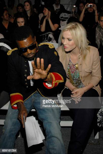 Kanye West and Natasha Bedingfield attend ALEXANDRE HERCHCOVITCH Fall 2009 Collection at Salon on February 18 2009 in New York City