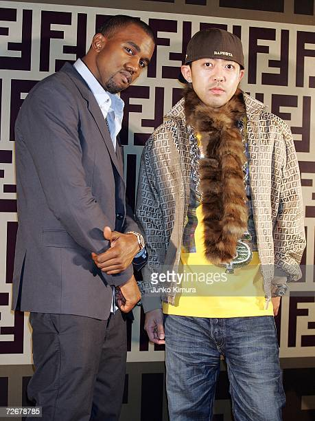 Kanye West and Nigo attend the Fendi party celebrating their new line of bags 'BMIX' which will be released in the spring/summer of 2007 at the...