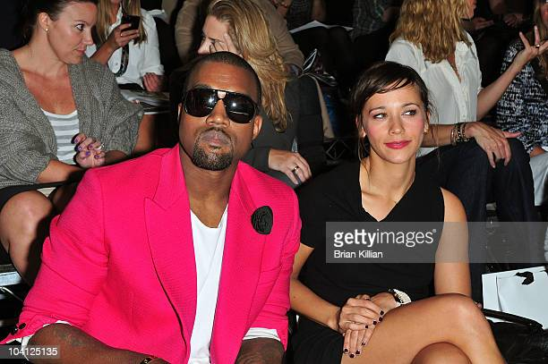 Kanye West and Rashida Jones attend the 3.1 Phillip Lim Spring 2011 fashion show during Mercedes-Benz Fashion Week at the Park Avenue Armory on...