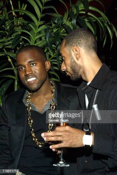 Kanye West and Swizz Beatz during 2006 MTV Video Music Awards PreVMA Party Hosted by Kelis at PM in New York City New York United States