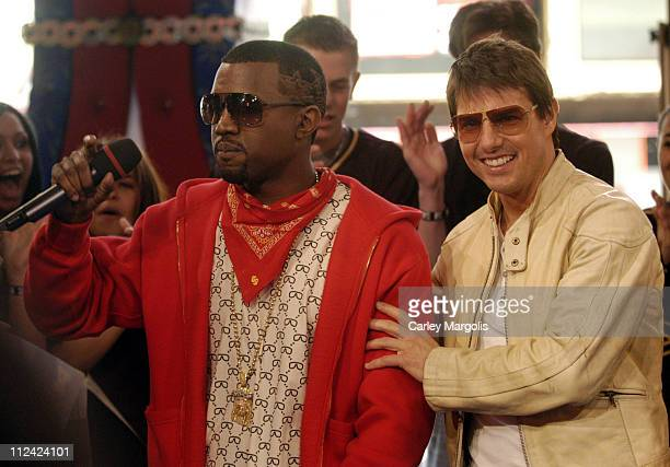 Kanye West and Tom Cruise during Tom Cruise, Laurence Fishburne, Ving Rhames, Keri Russell, Michelle Monaghan, Jonathan Rhys Meyers and Maggie Q of...