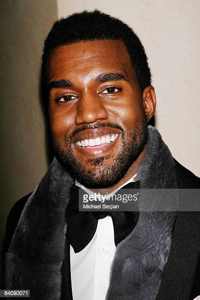 Kanye West arrives at Flaunt Magazine's 10th Anniversary Party and Annual Holiday Toy Drive at the Wayne Kao Mansion on December 18th, 2008 in Holmby...