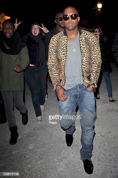 Kanye West arrives for the Vivienne Westwood Ready to Wear Autumn/Winter 2011/2012 show during Paris Fashion Week at Pavillon Concorde on March 4...